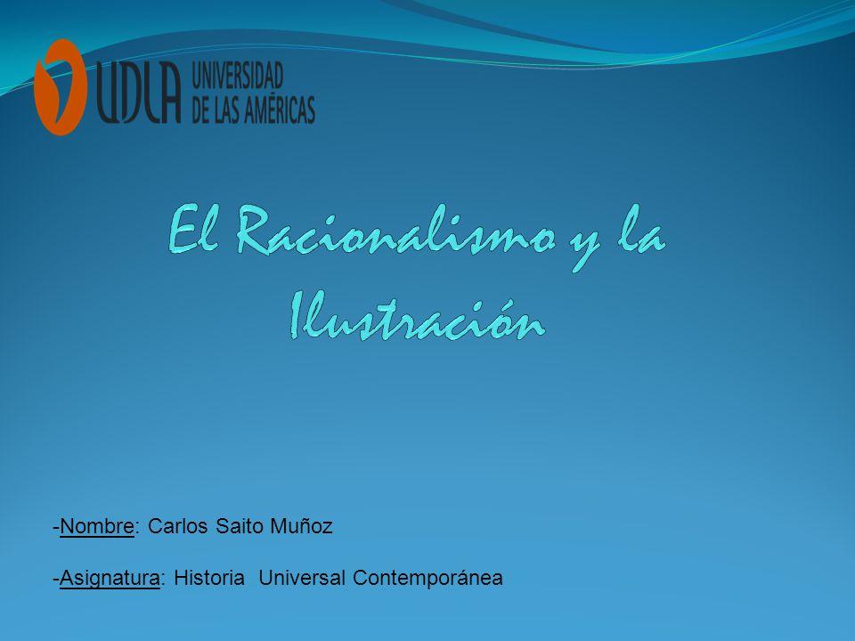 -Nombre: Carlos Saito Muñoz -Asignatura: Historia Universal Contemporánea