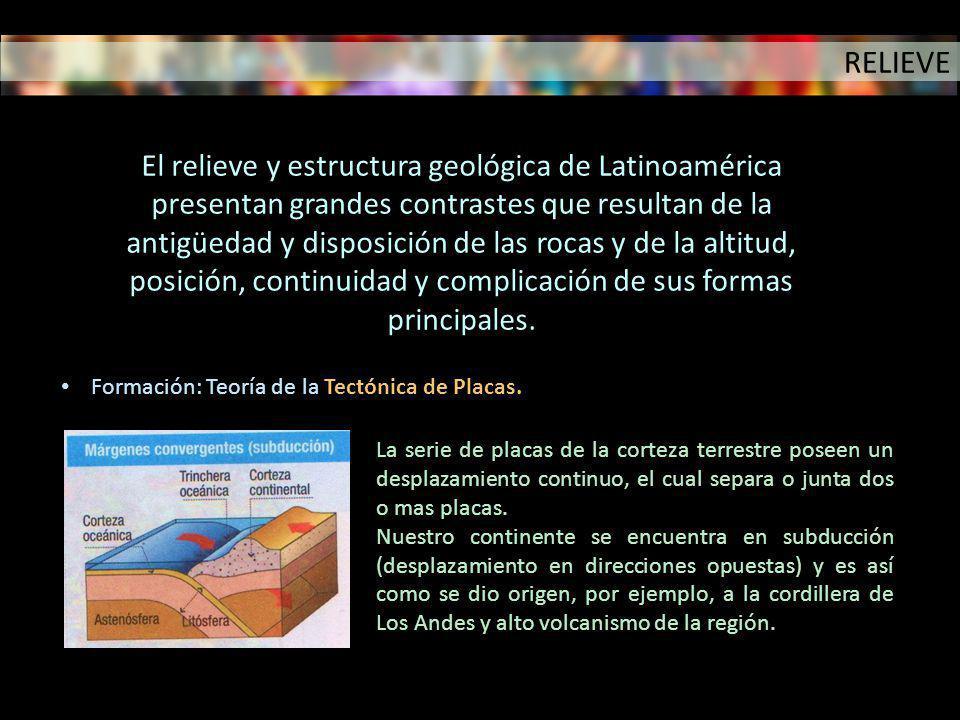 Formación: Teoría de la Tectónica de Placas. La serie de placas de la corteza terrestre poseen un desplazamiento continuo, el cual separa o junta dos