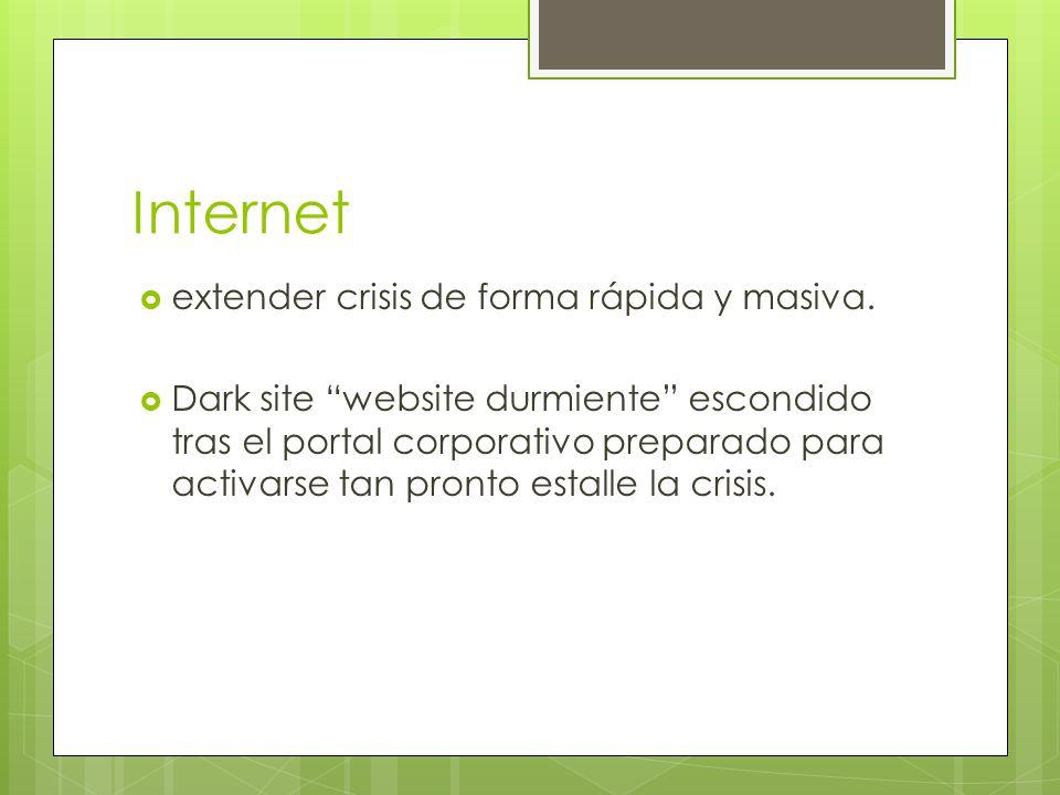 Internet extender crisis de forma rápida y masiva. Dark site website durmiente escondido tras el portal corporativo preparado para activarse tan pront
