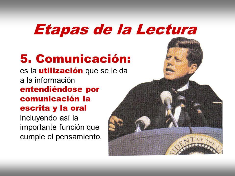 Instituto de Formación Bancaria Copyright © 2008 Carlos de la Rosa Etapas de la Lectura 5. Comunicación: es la utilización que se le da a la informaci