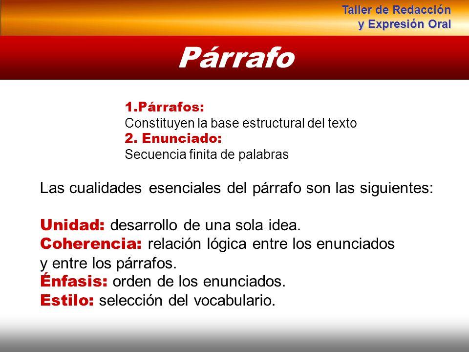 Párrafo Instituto de Formación Bancaria Copyright © 2007 Carlos de la Rosa 1.Párrafos: Constituyen la base estructural del texto 2. Enunciado: Secuenc