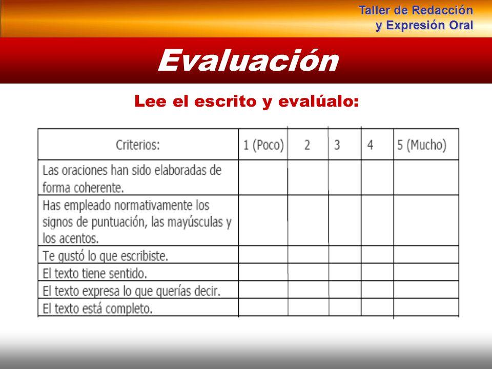 Lee el escrito y evalúalo: Evaluación Instituto de Formación Bancaria Copyright © 2008 Carlos de la Rosa Taller de Redacción y Expresión Oral