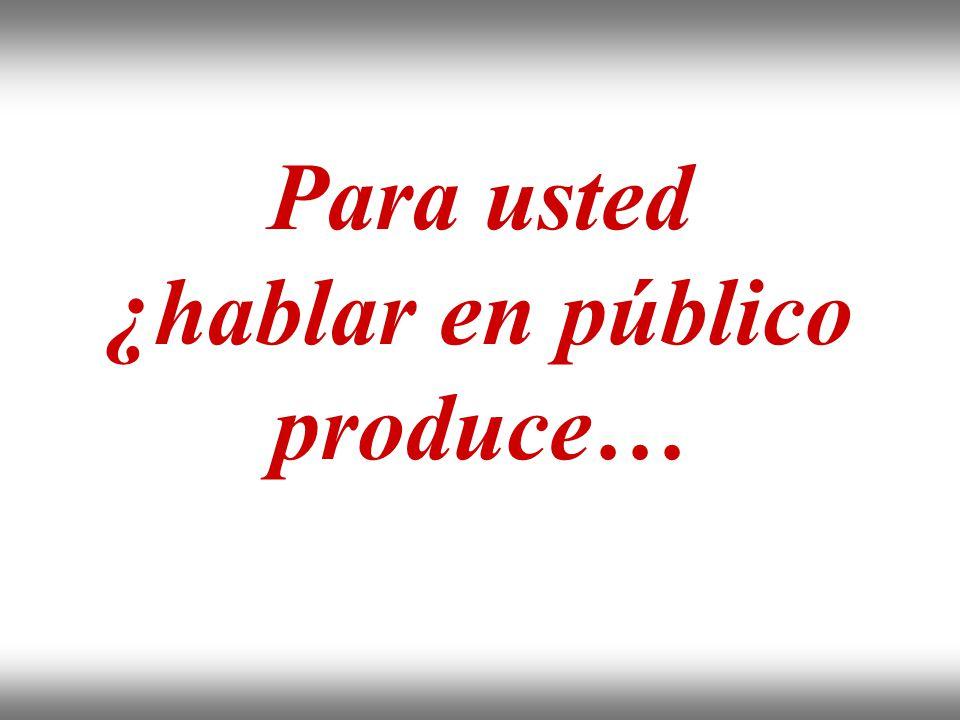 Instituto de Formación Bancaria Copyright © 2008 Carlos de la Rosa Para usted ¿hablar en público produce…