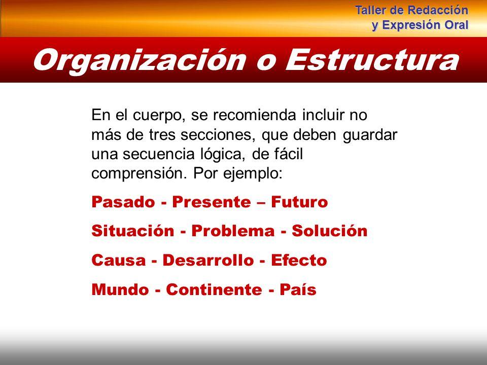 Instituto de Formación Bancaria Copyright © 2008 Carlos de la Rosa En el cuerpo, se recomienda incluir no más de tres secciones, que deben guardar una