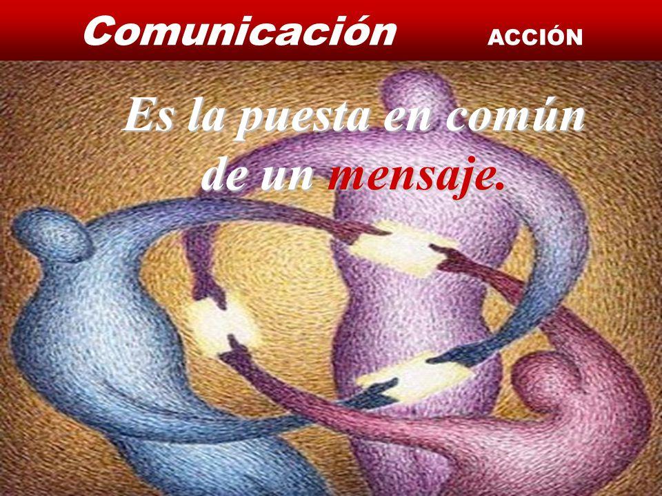 Comunicación ACCIÓN Instituto de Formación Bancaria Copyright © 2007 Carlos de la Rosa Es la puesta en común de un mensaje.
