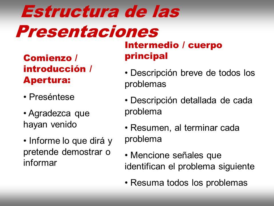 Instituto de Formación Bancaria Copyright © 2008 Carlos de la Rosa Estructura de las Presentaciones Comienzo / introducción / Apertura: Preséntese Agr