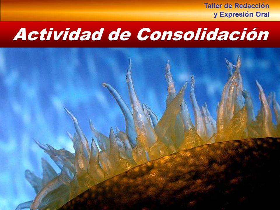 Actividad de Consolidación Taller de Redacción y Expresión Oral