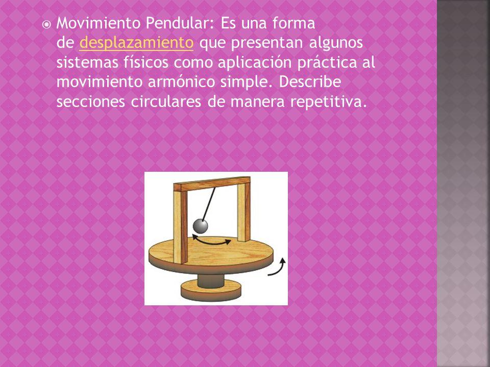 El movimiento rectilíneo se divide en : Movimiento Circular, Movimiento Pendular, Movimiento Parabólico, Movimiento Aleatorio, entre otros. Movimiento