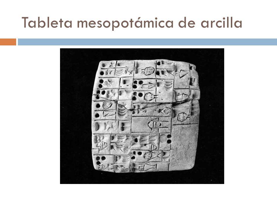 Tableta mesopotámica de arcilla