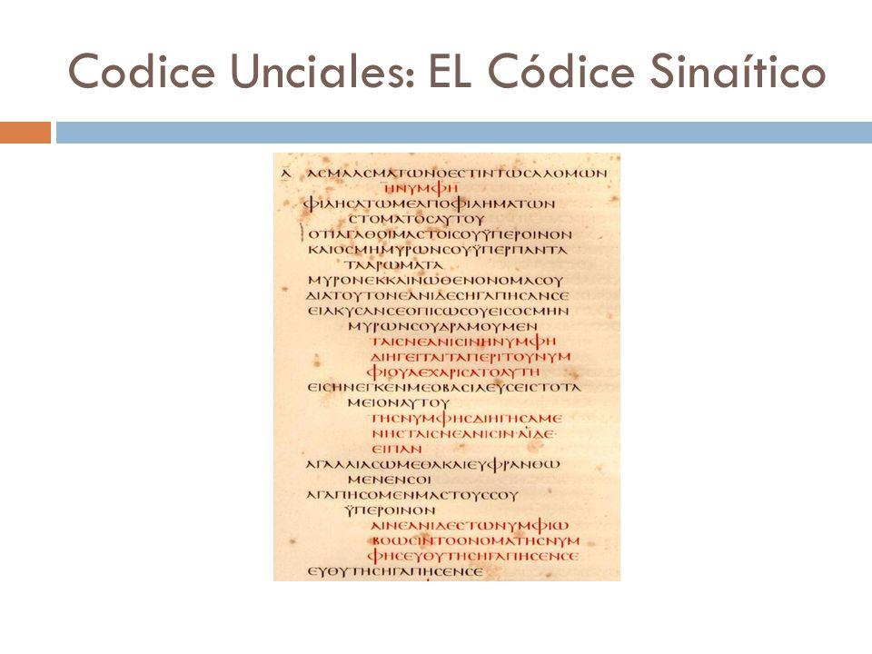 Codice Unciales: EL Códice Sinaítico