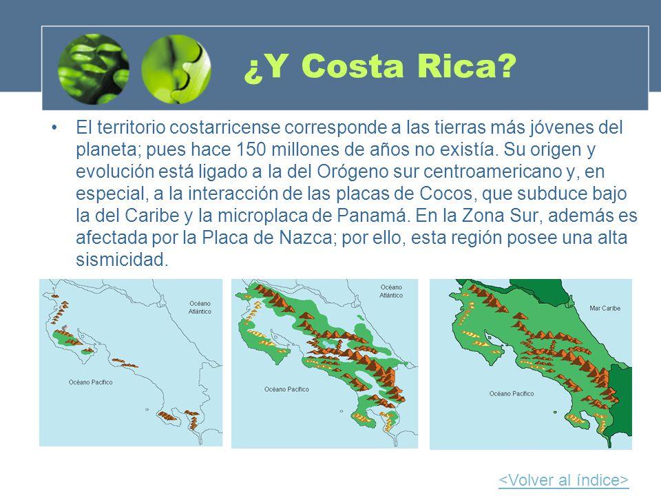 ¿Y Costa Rica? El territorio costarricense corresponde a las tierras más jóvenes del planeta; pues hace 150 millones de años no existía. Su origen y e