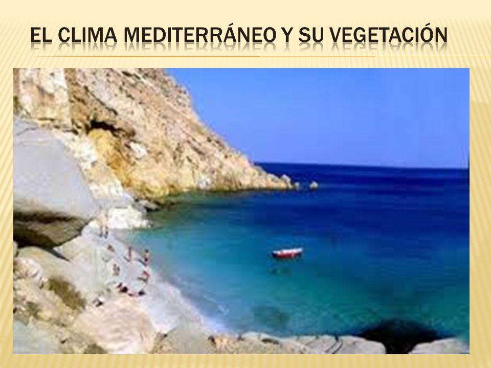El clima mediterráneo cubre la mayor extensión de todos los que se dan en el territorio español. En función de las temperaturas y las precipitaciones