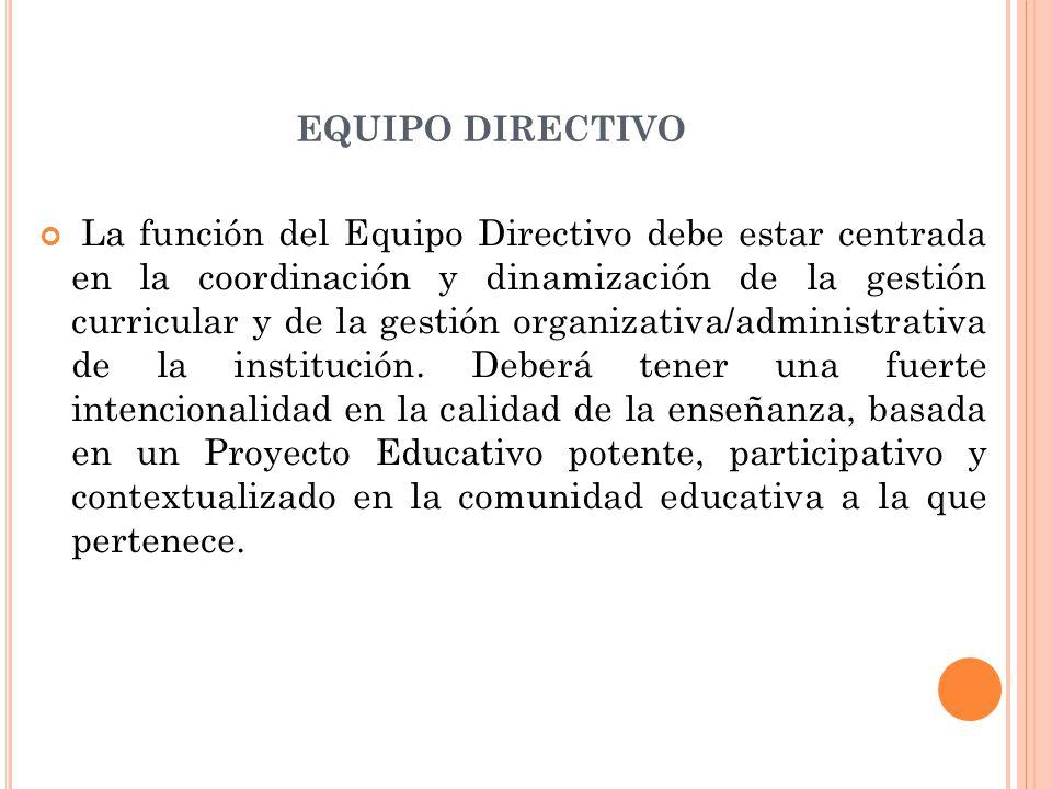 FUNCIONES (RESPONSABILIDADES EN EL CARGO) a)Articular las propuestas políticas y curriculares con la formulación participativa de un Proyecto Educativo Institucional particular, adecuado a su contexto, que posibilite el desarrollo real.