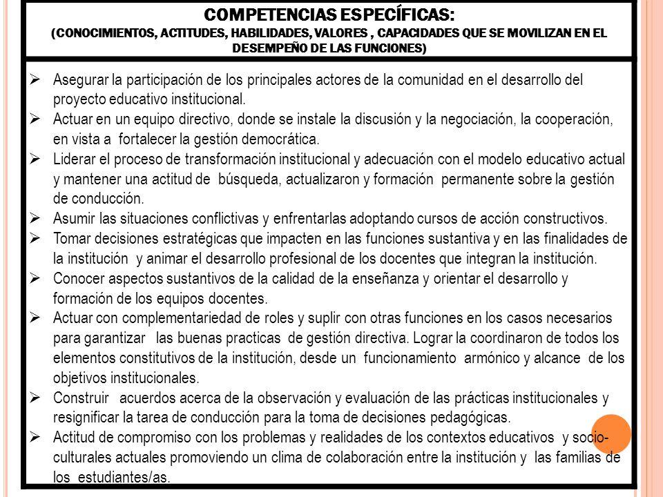ASESOR PEDAGÓGICO FUNCIONES (RESPONSABILIDADES EN EL CARGO) a)Participar en los procesos de construcción permanentes del Proyecto educativo Institucional.
