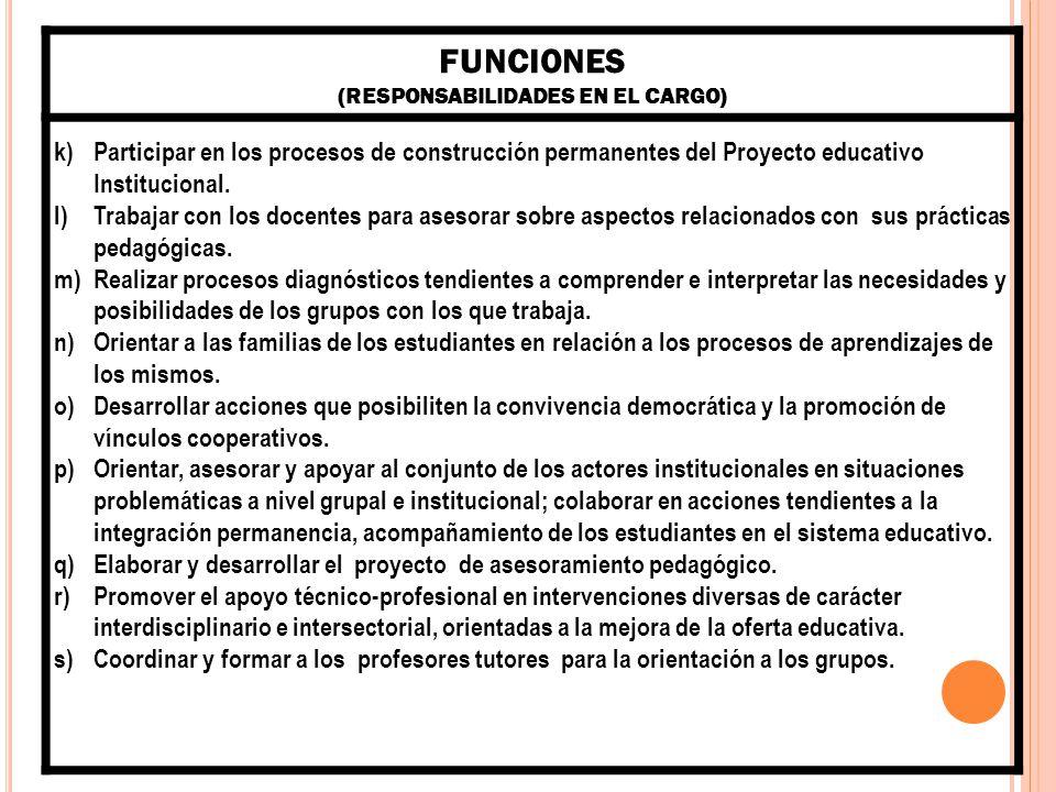 COMPETENCIAS ESPECÍFICAS: (CONOCIMIENTOS, ACTITUDES, HABILIDADES, VALORES, CAPACIDADES QUE SE MOVILIZAN EN EL DESEMPEÑO DE LAS FUNCIONES) Capacidad para potenciar la interacción que provoque una reflexión conjunta que favorezca la comprensión de las problemáticas abordadas.