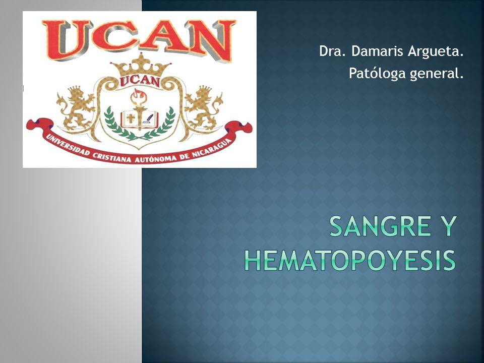 Dra. Damaris Argueta. Patóloga general.