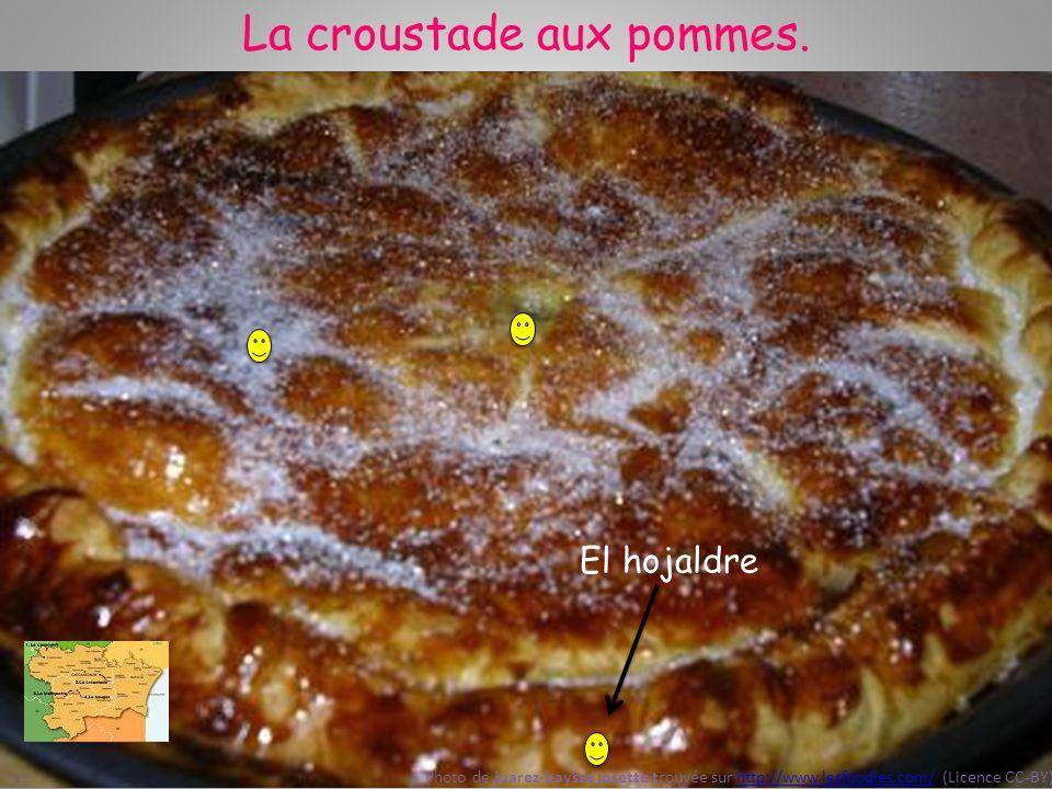 La croustade aux pommes. ¡Aquí están las manzanas escondidas! Photo de juarez-baysse josette trouvée sur http://www.lesfoodies.com/ (Licence CC-BY)htt