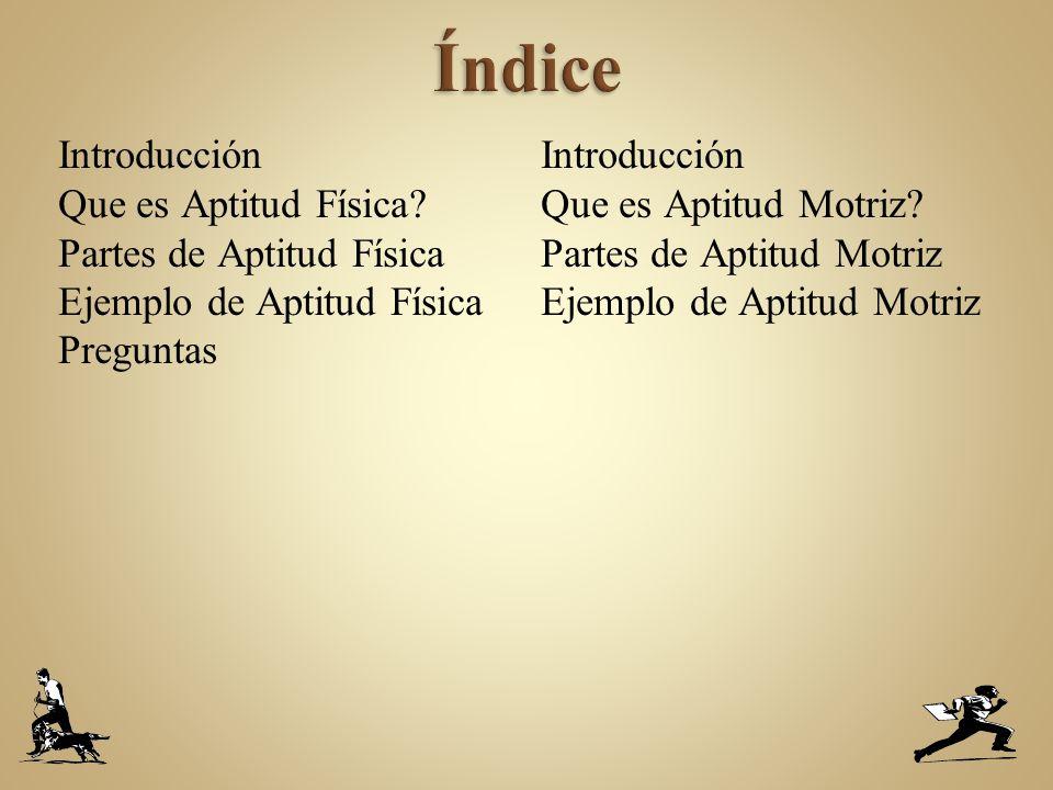 Introducción Que es Aptitud Física.
