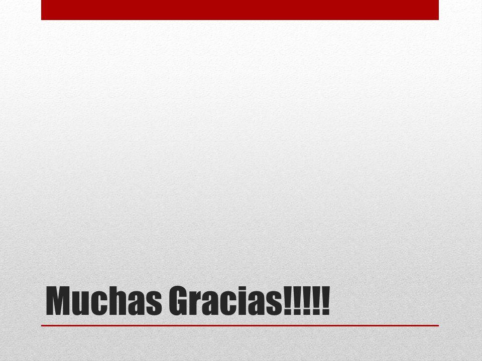 Muchas Gracias!!!!!