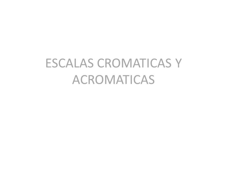 ESCALAS CROMATICAS Y ACROMATICAS