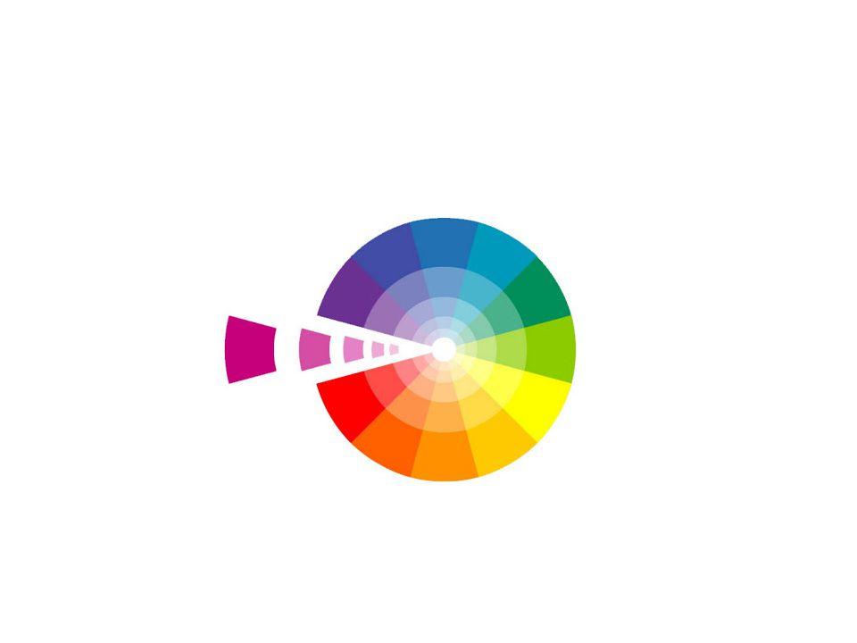 Tenemos por tanto: ESCALA DE SATURACIÓN: llamada escala del blanco, cuando al blanco se le añade color hasta conseguir una cierta saturación.