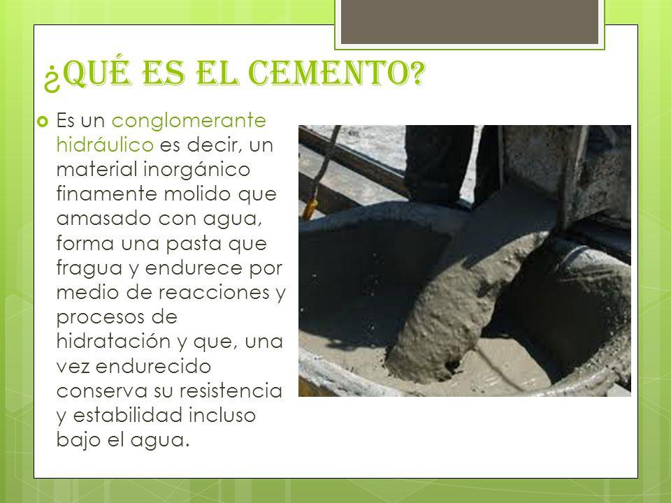 ¿ Qué es el Cemento.