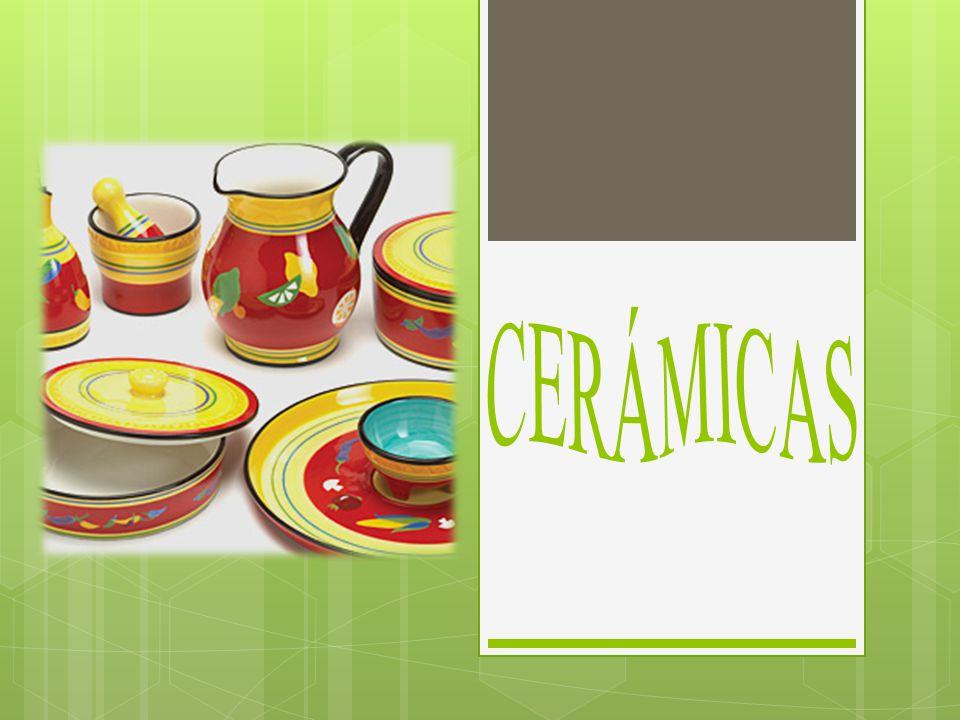 Cerámicas Tipo de material inorgánico no metal, que tiene la propiedad de tener una temperatura de fusión y resistencia muy elevada.