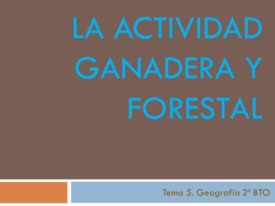 LA ACTIVIDAD GANADERA Y FORESTAL Tema 5. Geografía 2º BTO