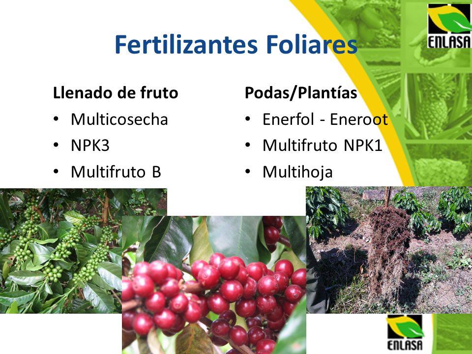 Fertilizantes Foliares Llenado de fruto Multicosecha NPK3 Multifruto B Podas/Plantías Enerfol - Eneroot Multifruto NPK1 Multihoja