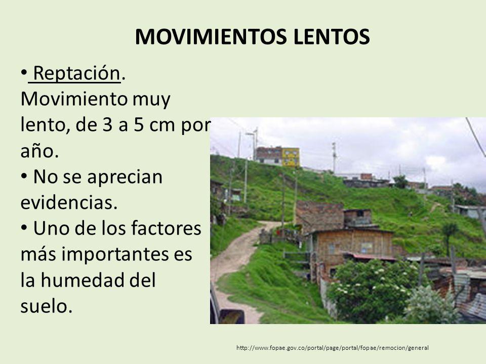 MOVIMIENTOS LENTOS http://www.fopae.gov.co/portal/page/portal/fopae/remocion/general Reptación.