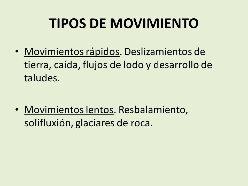 TIPOS DE MOVIMIENTO Movimientos rápidos.