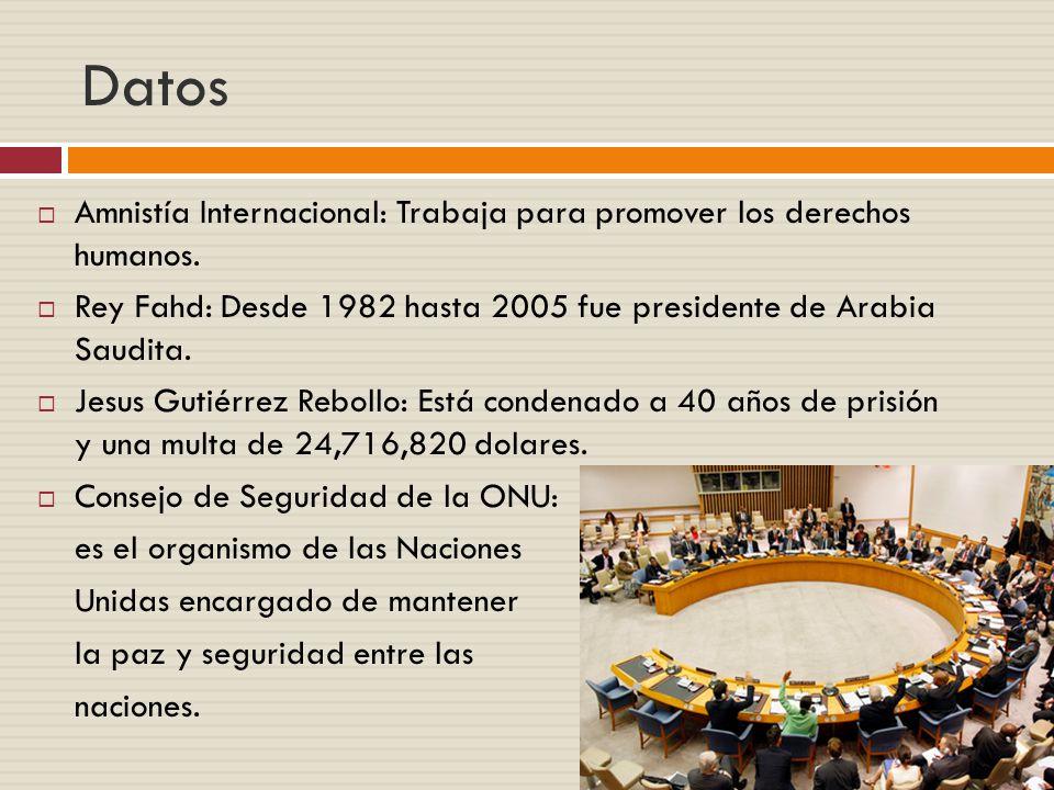 Datos Amnistía Internacional: Trabaja para promover los derechos humanos.
