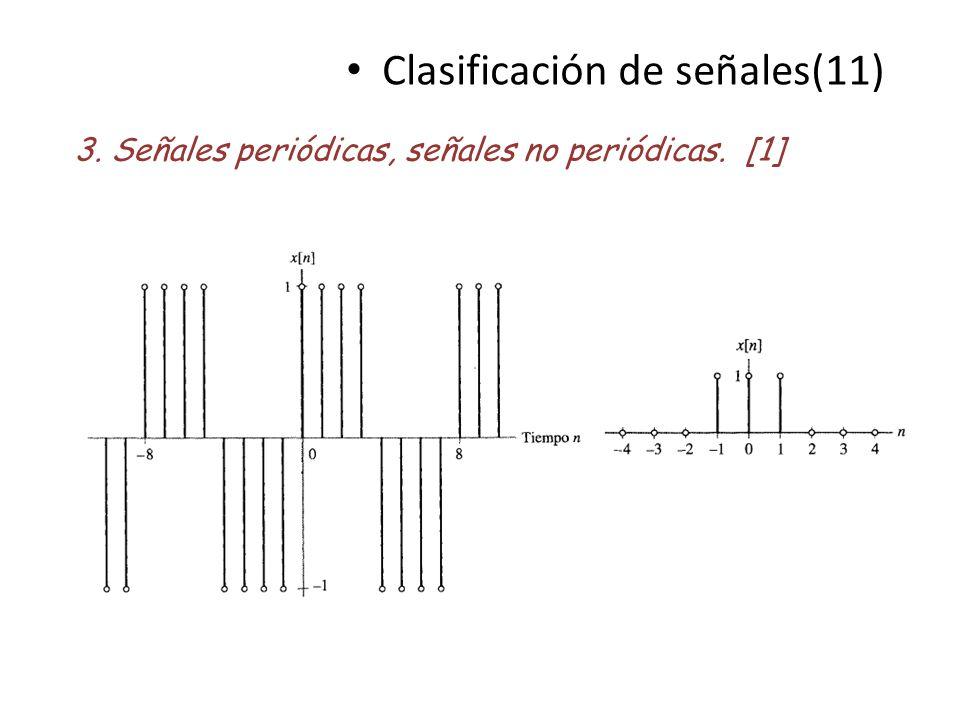 Clasificación de señales(11) 3. Señales periódicas, señales no periódicas. [1]