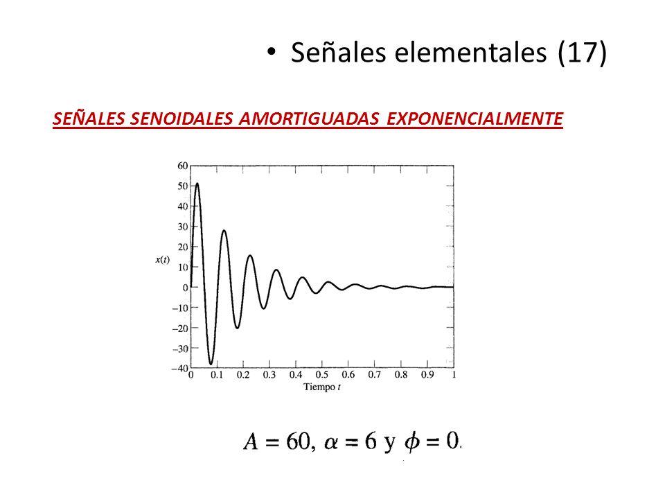 Señales elementales (17) SEÑALES SENOIDALES AMORTIGUADAS EXPONENCIALMENTE