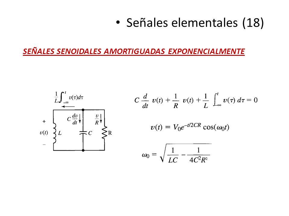 Señales elementales (18) SEÑALES SENOIDALES AMORTIGUADAS EXPONENCIALMENTE