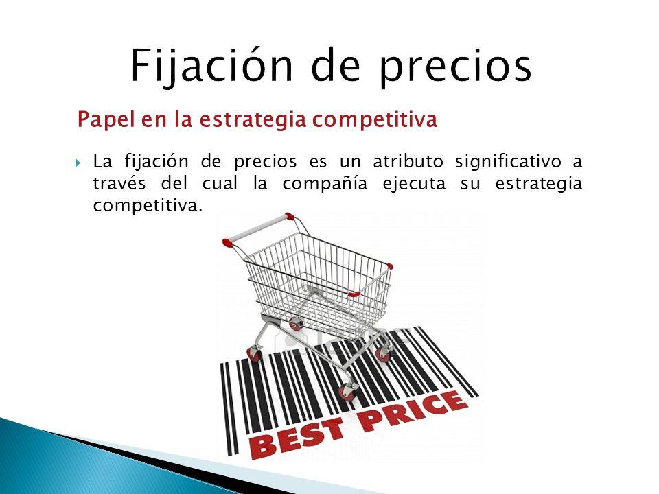 La fijación de precios es un atributo significativo a través del cual la compañía ejecuta su estrategia competitiva. Papel en la estrategia competitiv