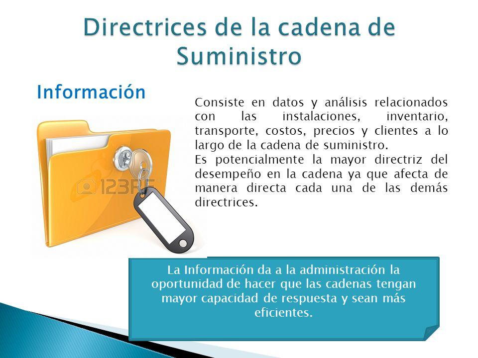 La Información da a la administración la oportunidad de hacer que las cadenas tengan mayor capacidad de respuesta y sean más eficientes. Información C