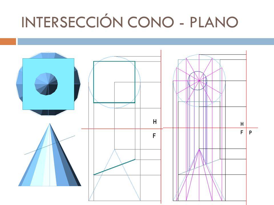 Cuando dos superficies cualesquiera se cortan entre sí, se produce una línea de intersección, común a ambas.