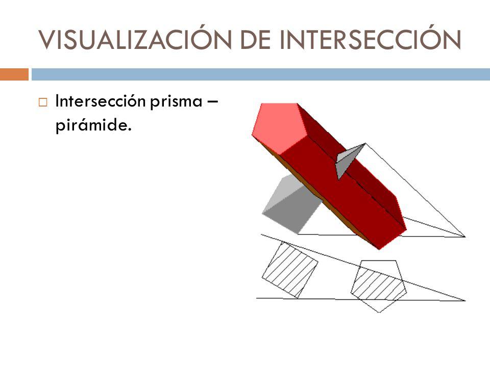 VISUALIZACIÓN DE INTERSECCIÓN Intersección prisma – pirámide.