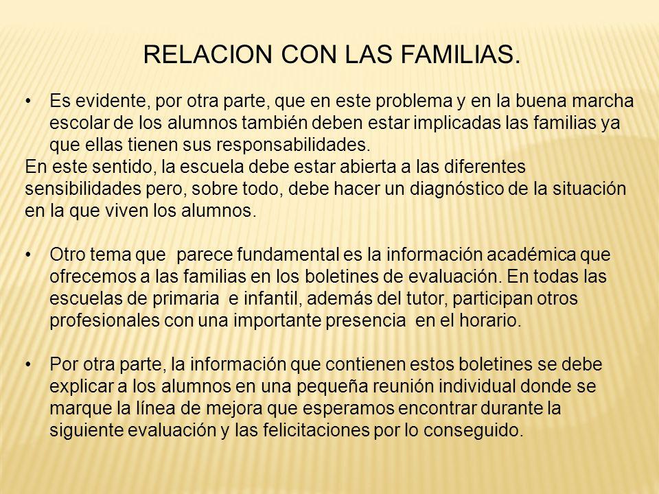 RELACION CON LAS FAMILIAS.