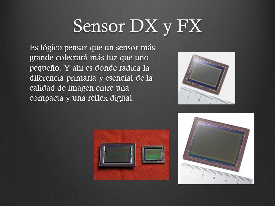 Sensor DX y FX Es lógico pensar que un sensor más grande colectará más luz que uno pequeño. Y ahí es donde radica la diferencia primaria y esencial de