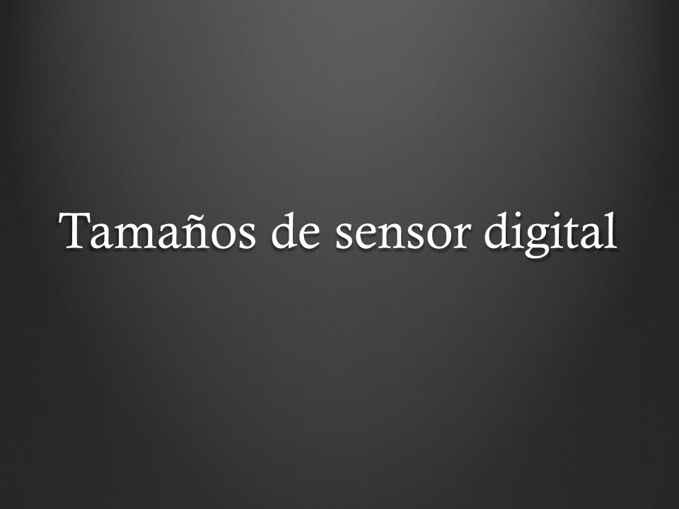 Tamaños de sensor digital