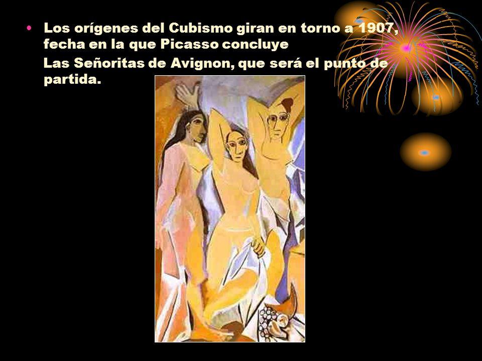 Los orígenes del Cubismo giran en torno a 1907, fecha en la que Picasso concluye Las Señoritas de Avignon, que será el punto de partida.