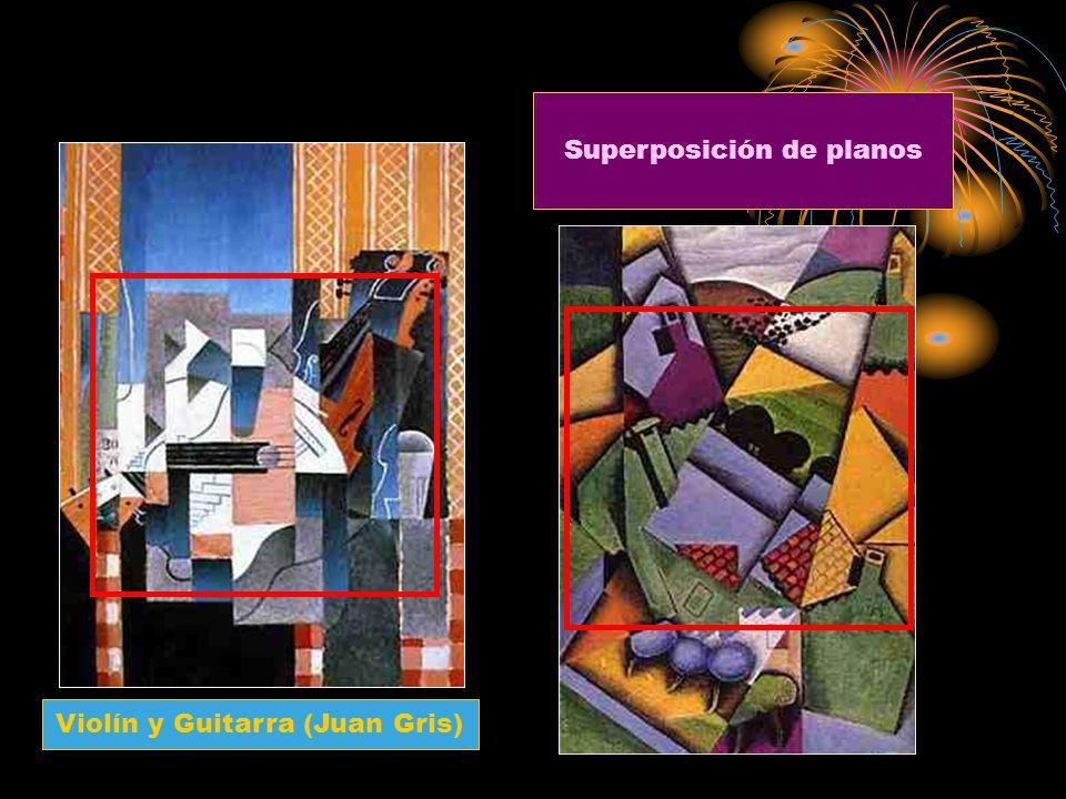 Violín y Guitarra (Juan Gris) Superposición de planos