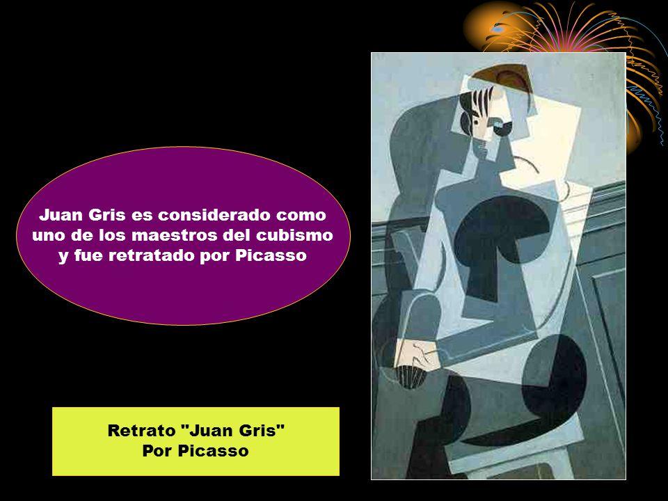 Juan Gris es considerado como uno de los maestros del cubismo y fue retratado por Picasso Retrato