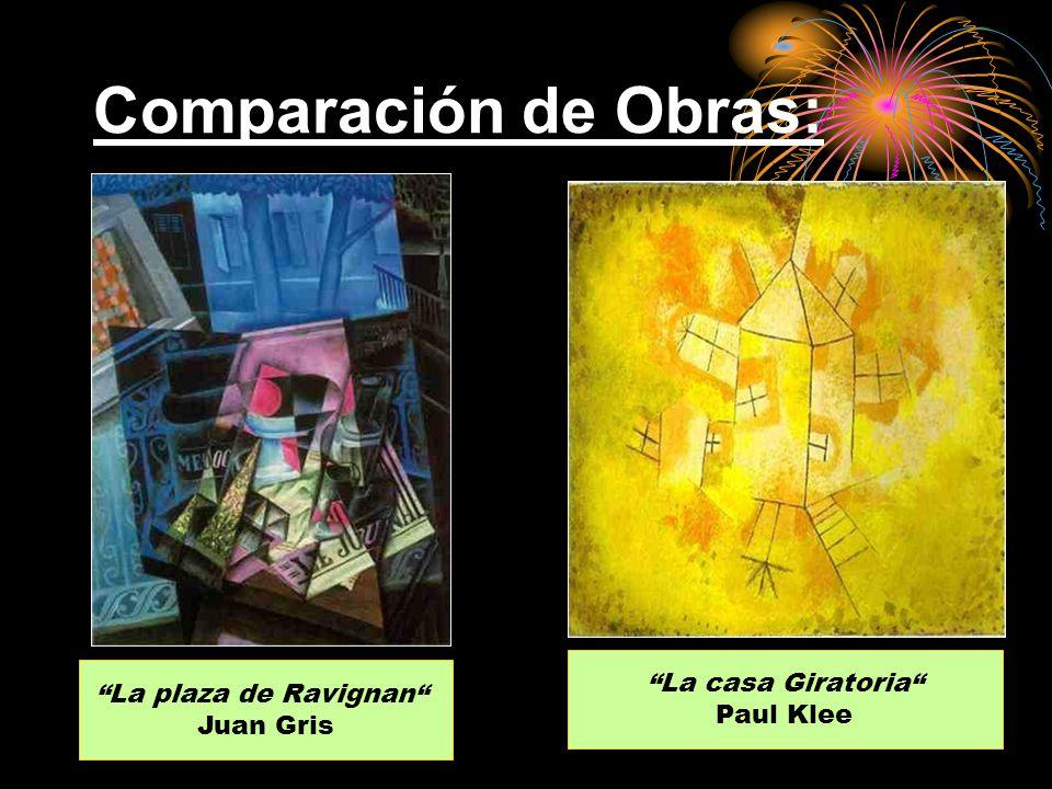 Comparación de Obras: La plaza de Ravignan Juan Gris La casa Giratoria Paul Klee