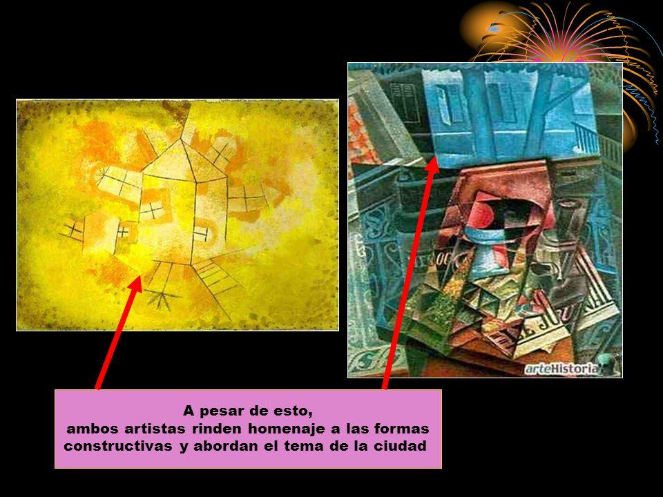 A pesar de esto, ambos artistas rinden homenaje a las formas constructivas y abordan el tema de la ciudad