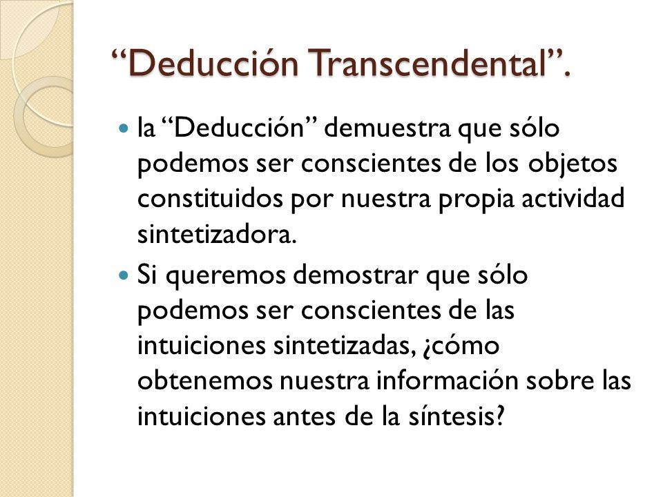 Deducción Transcendental.