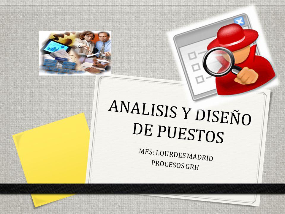 0 El análisis del puesto de trabajo es el proceso fundamental del que dependen la mayoría de las actividades relacionadas con los RRHH.