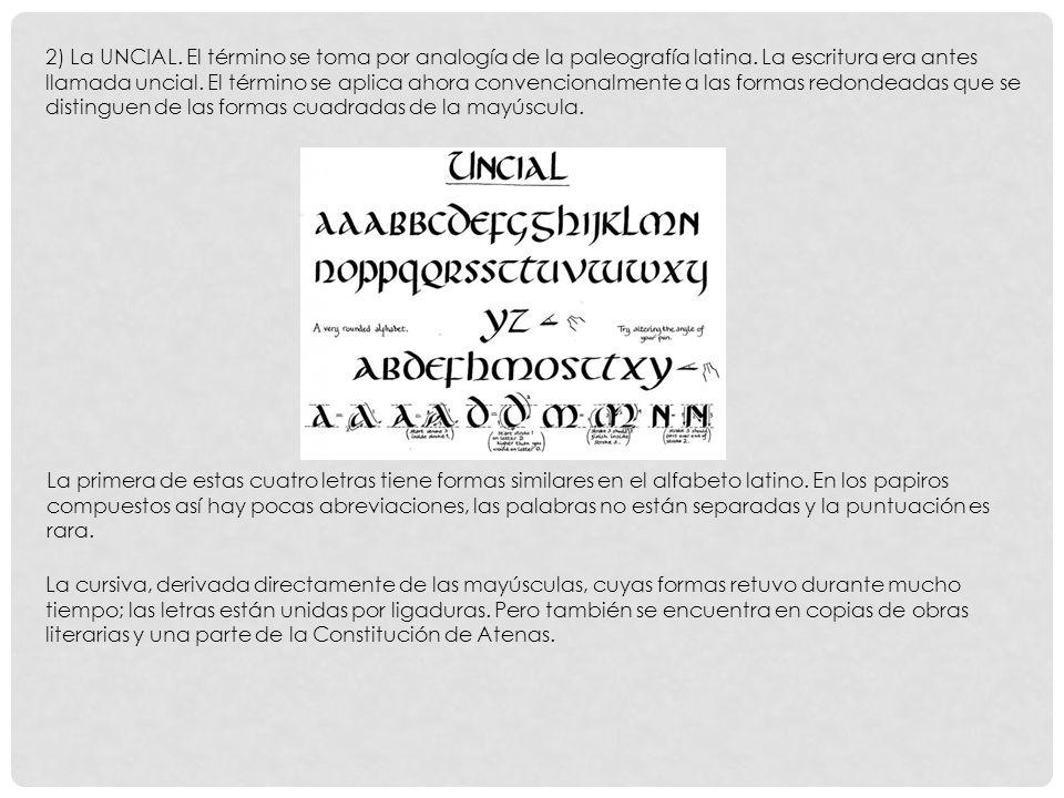 La primera de estas cuatro letras tiene formas similares en el alfabeto latino.